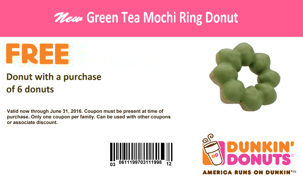 Coupon - Dunkin Donuts (1)